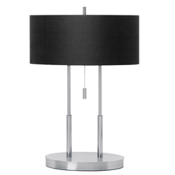 Tafellamp Cluses, dressoir, stoffen kap
