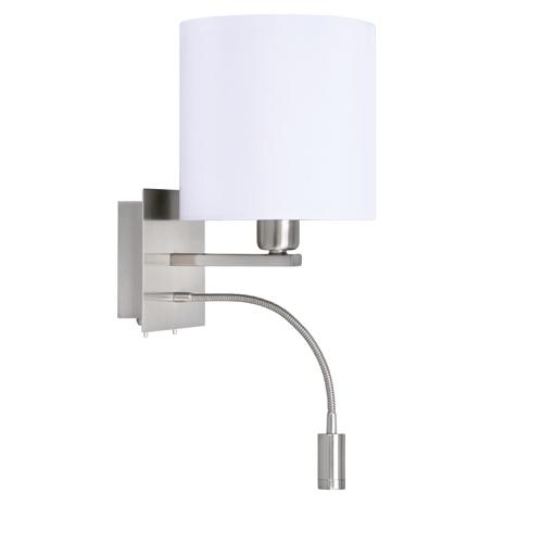 Lees wandlamp bologna met flex arm