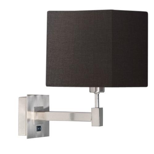 Wandlamp kubus antraciet stof modern