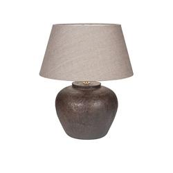 Tafellamp keramiek  landelijk kap taup