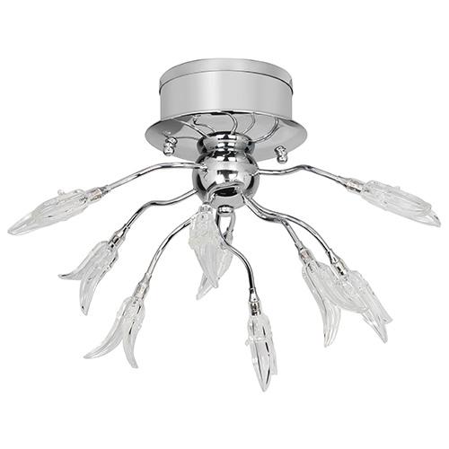 Plafondlamp tulp chroom woon-slaapkamer