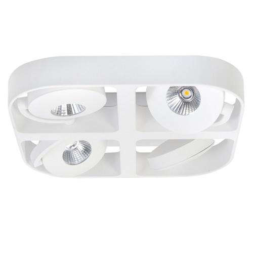 Moderne design LED spot wit verstelb.