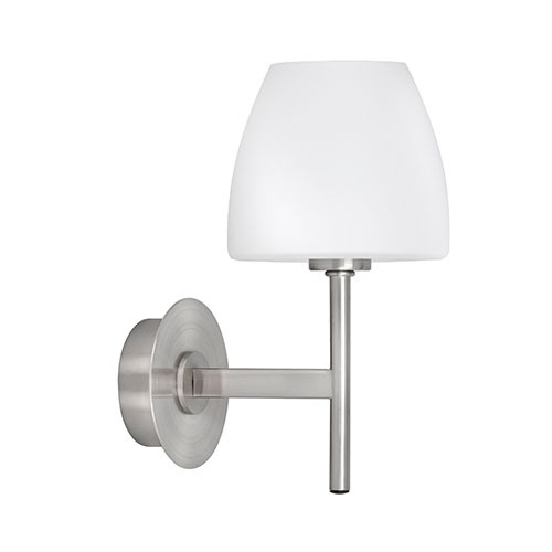 Wandlamp Mini Solar melk glas/nikkel