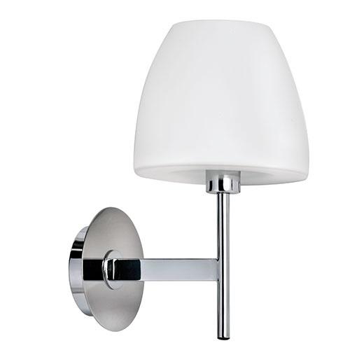 Wandlamp Solar melk glas chroom