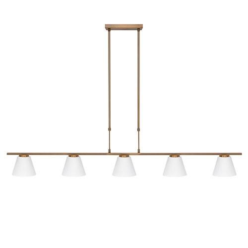 Hanglamp Elite brons 5-lichts eettafel