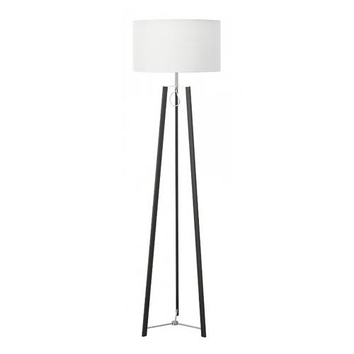 Design staande lamp zwart staal dimbaar
