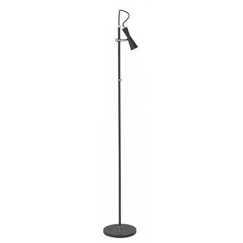Moderne design vloerlamp zwart met spot