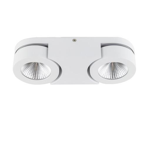 Witte LED plafondspot Montreal 2-lichts