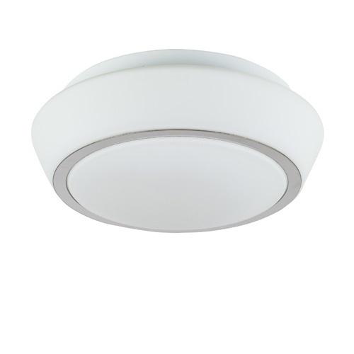 Glazen plafondlamp wit keuken