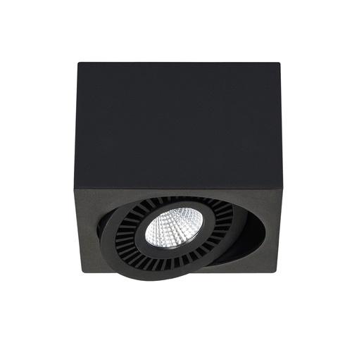 Opbouwspot box zwart 1-lichts led