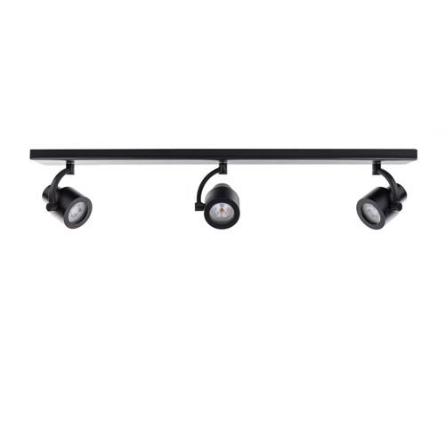Plafondspot mat zwart balk 3-lichts gu10