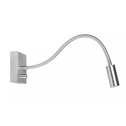LED wandlamp/bedlamp flexibel staal