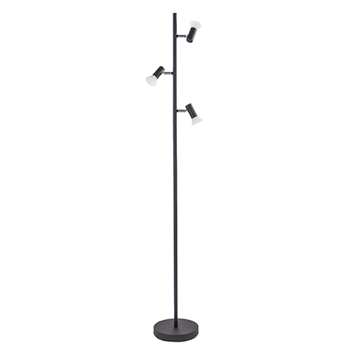 3-Lichts dimbare vloerlamp LED zwart