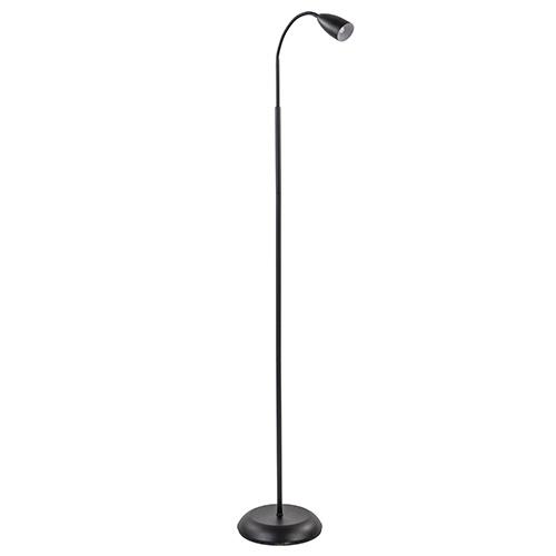 Zwarte vloer/leeslamp touch dimbaar
