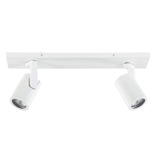 Metalen plafondspot wit 2-lichts GU10