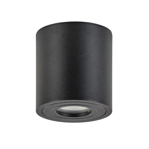 Plafondspot cilinder zwart gu10 IP44