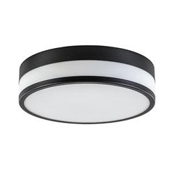 Plafondlamp zwart opaal glas 3-step dim