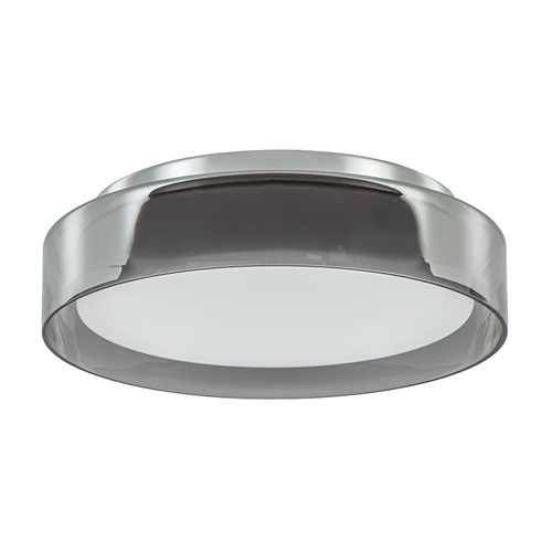 Plafondlamp chroom/smoke IP44 3-step dim