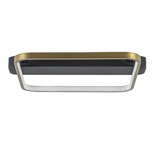 Dimbare LED plafondlamp zwart goud vierkant