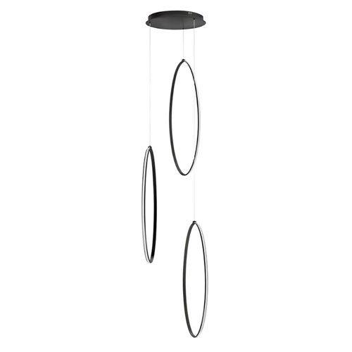 Videlamp zwart 3x elips groot