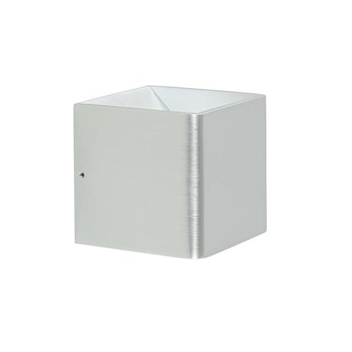 Nikkel wandlamp kubus inclusief LED