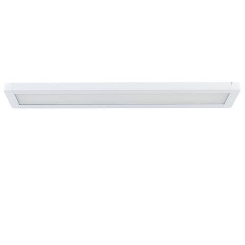 Langwerpige plafondlamp LED panel wit