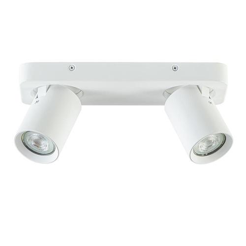Plafondspot 2L balk wit tube gu10