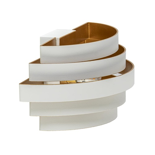 Moderne G9 wandlamp wit met goud