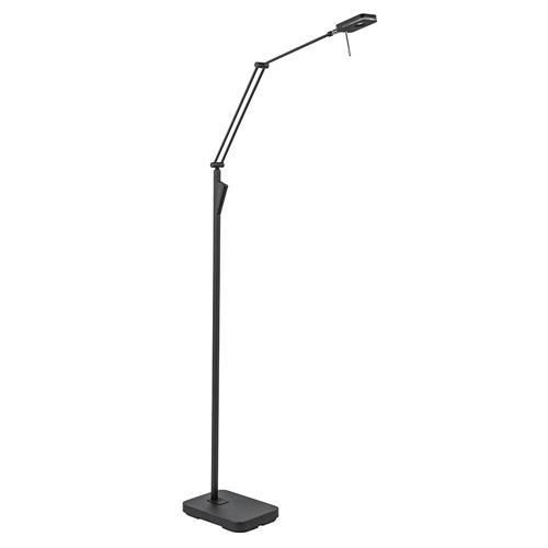 Moderne LED vloerlamp zwart met verstelbare arm