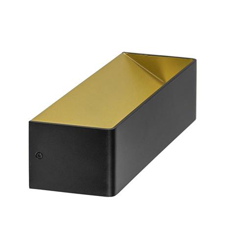 Wandlamp Stretto zwart/goud 30cm