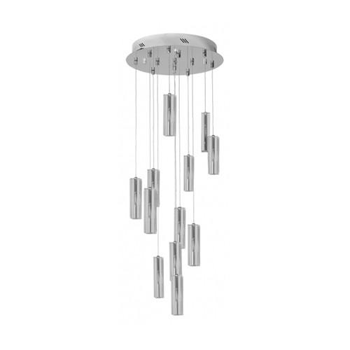 **Vide-plafondlamp modern kristal chroom