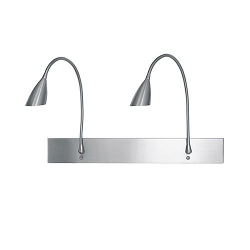 Wand-leeslamp staal flex slaapkamer | Straluma