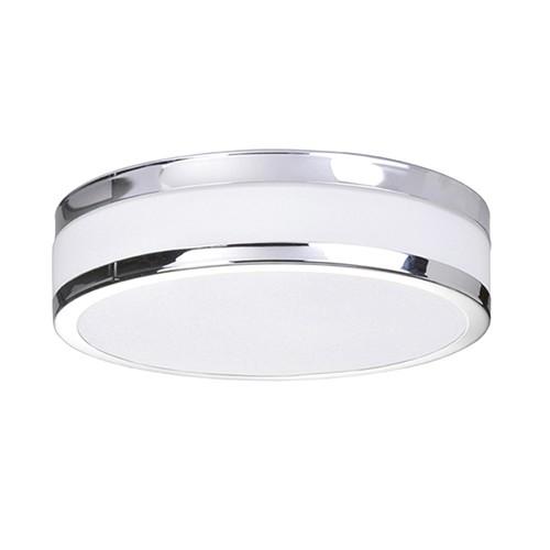 Badkamer plafondlamp chroom wit IP44 | Straluma