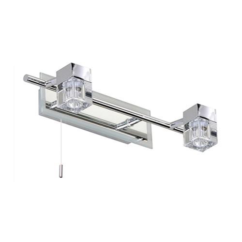 *Badkamer-wandlamp chroom trekschakelaar