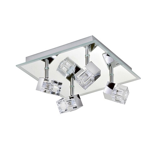 Moderne badkamerlamp plafond chroom | Straluma