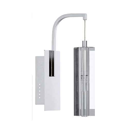 Chique wandlamp strak kristal woonkamer | Straluma