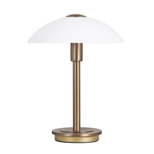 Klassieke tafellamp brons touchdimmer