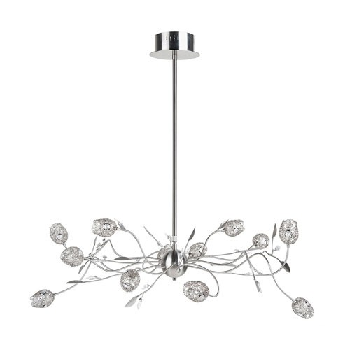 **Romantische hanglamp Toscane nikkel