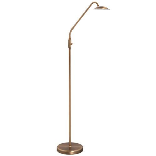 *Klassieke leeslamp LED brons met dimmer