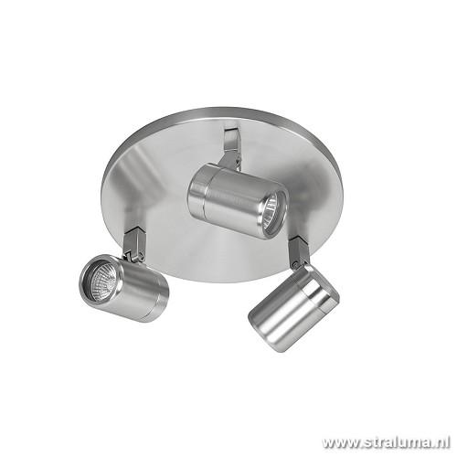 Badkamer spot nikkel IP44 verstelbaar | Straluma