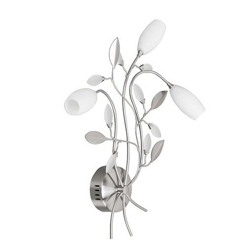 Wandlamp Grosseto romantisch glas wit