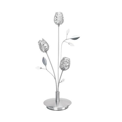 **Romantische tafellamp Toscane nikkel