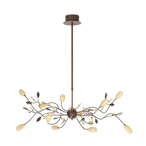 Klassieke hanglamp grosseto roestbruin straluma for Klassieke hanglamp