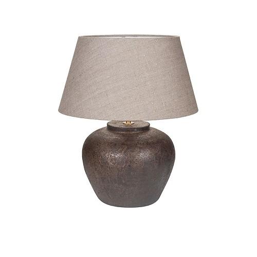 **Tafellamp keramiek  landelijk kap taup