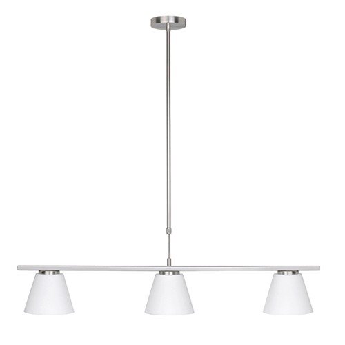 Hanglamp Elite eetkamer 3 L nikkel