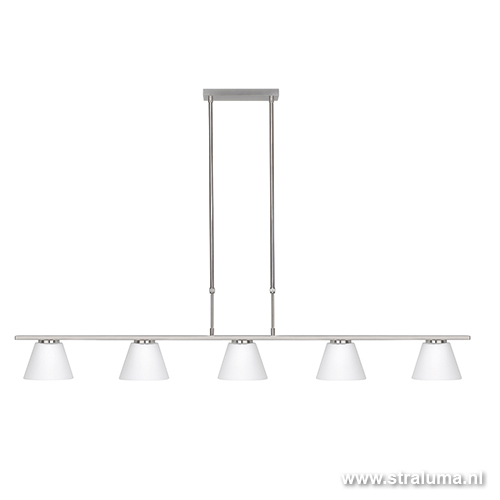 *Hanglamp Elite 5 lichts glas eettafel