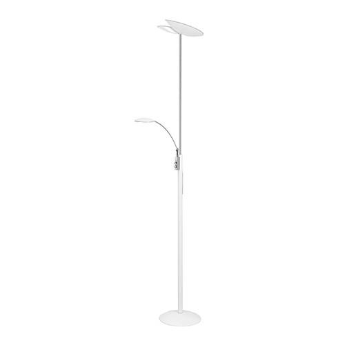 Vloerlamp uplighter LED leesarm wit
