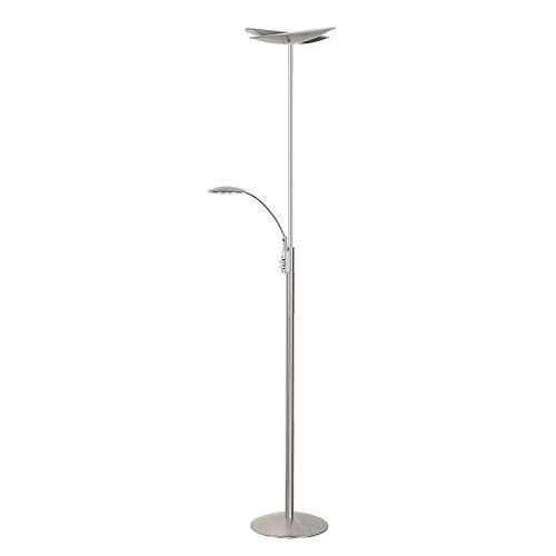 Dimbare staande Ledlamp uplighter staal