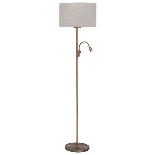 *Klassieke staande lamp brons leeslamp