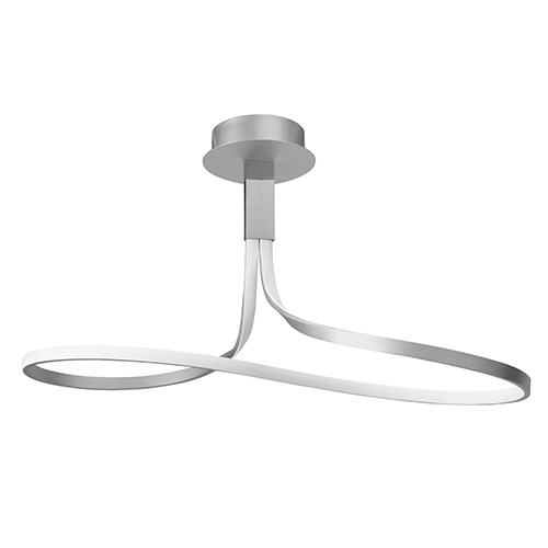 design lamp plafond led zilver woonkam
